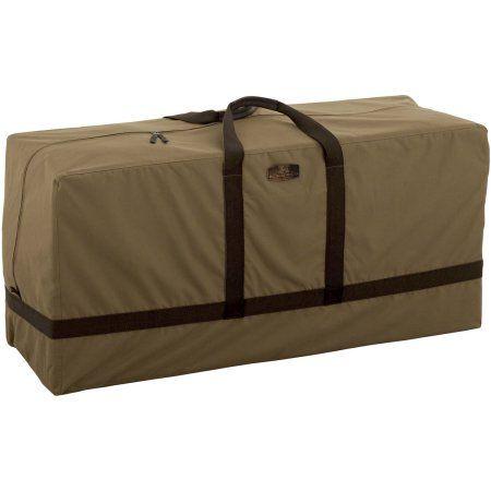 Classic Accessories Hickory Patio Furniture Cushion Storage Bag, Tan, Brown