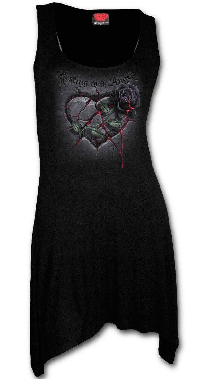 Vestido Resting with Angels de Spiral #corazon #rosas #vestido #gotico #rock #goth