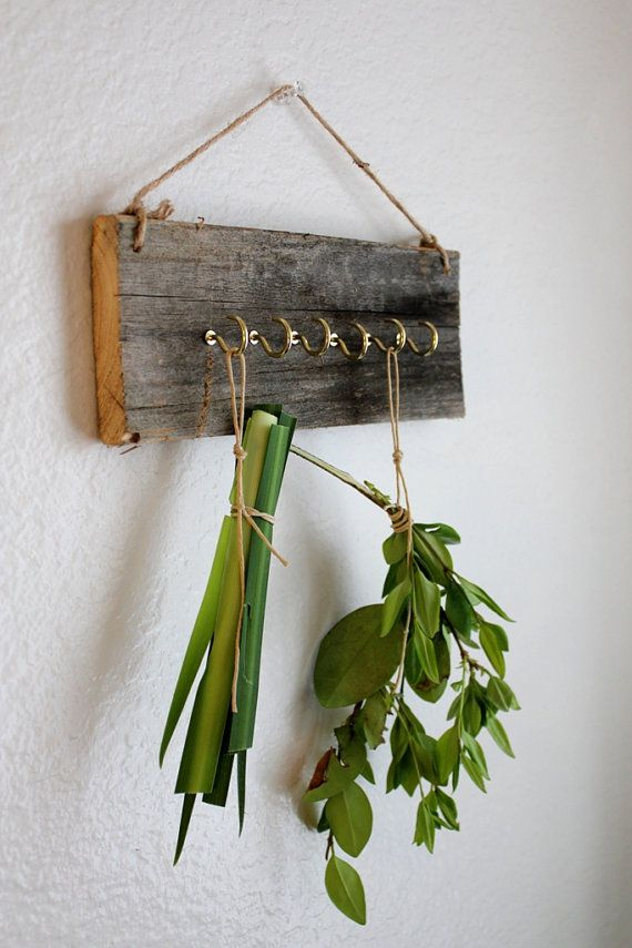 o hammer and drill, paint and assemble the drying rack's parts with screws and washers Barnwood Herb Drying Rack  Eco friendly Dried by BessiesCreations, $32.00