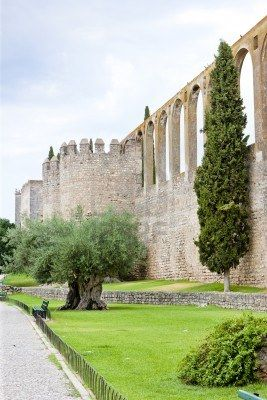 Acueducto De Serpa, Alentejo, Portugal. The city is of ancient origins even before the Romans settled there.