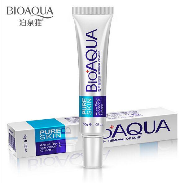 Marca bioaqua gel crema anti acné eliminación de cicatrices de acné el tratamiento del acné cuidado de la piel que blanquea la crema hidratante 30g 2016 hot