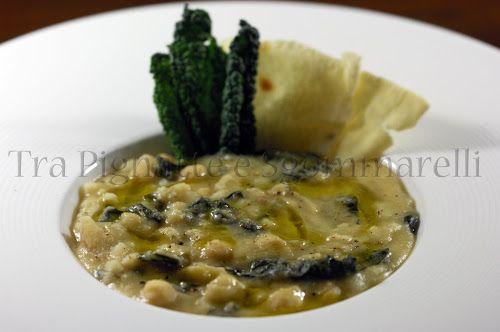 Zuppa di ceci, cavolo nero, castagne e orzo