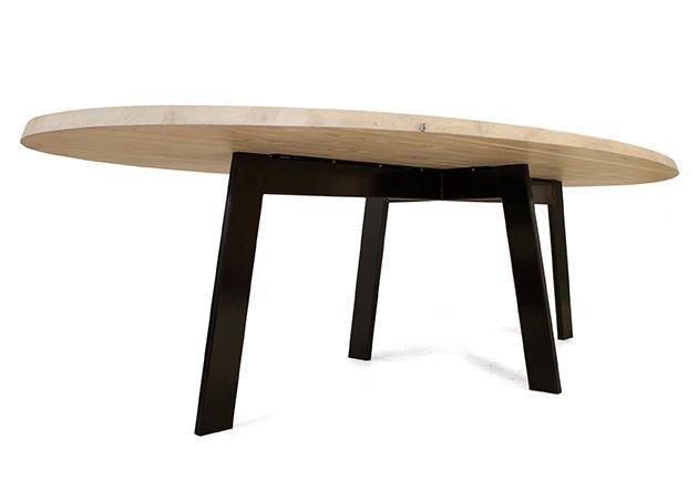 25 beste idee n over ovale eettafels op pinterest ronde for Design tafel ovaal