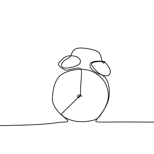 Un Dibujo De Un Reloj Despertador De Ilustracion Vectorial Concepto De Empezar A Trabajar Grafico Ve Dibujo Con Lineas Ilustracion Vectorial Dibujo Minimalista