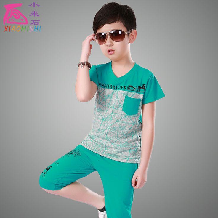 2014 новый летний детская одежда мальчиков подойдет детям случайный короткими рукавами футболки корейской версии большой мальчик спортивный костюм прилива - eBoxTao, English TaoBao Agent, Purchase Agent. покупка агент