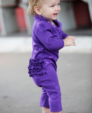 Effortless, adorable, and ruffled all-over. This is the perfect purple playsuit for your little princess! (From: RuffleButts.com - $24.50)