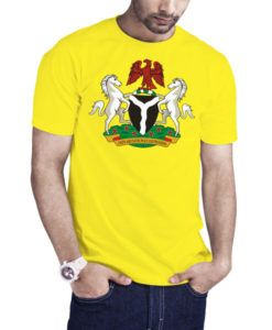 Men's Nigeria Coat Of Arms T-Shirt Yellow