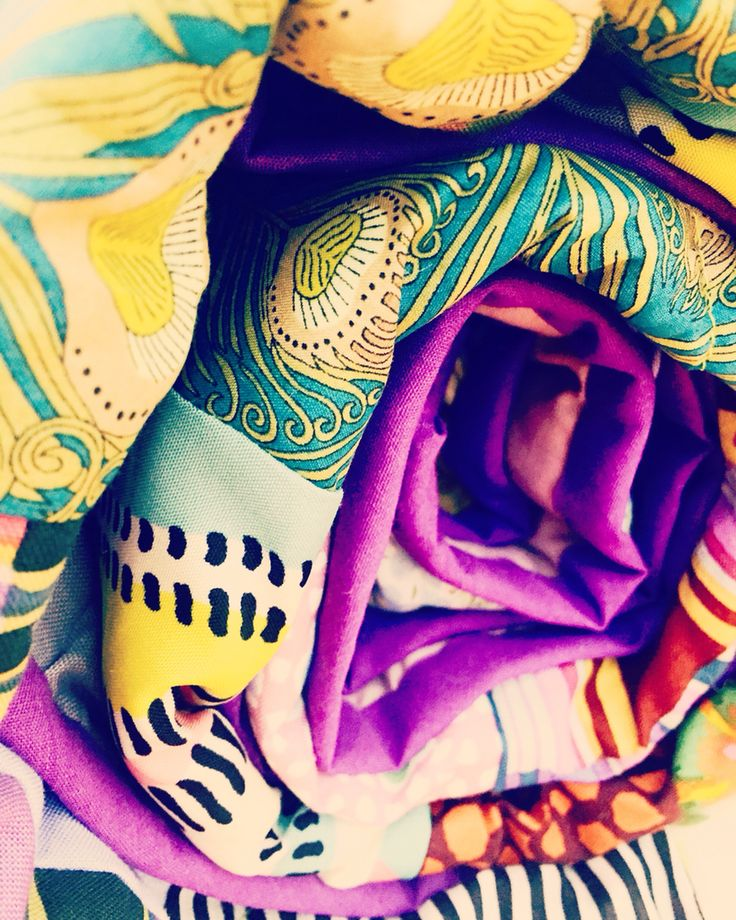 Ruby's handmade quilt with Liberty print. Love love love Hera print! 💜