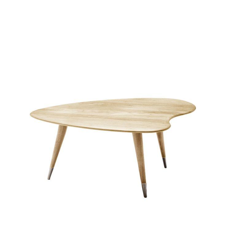 AK 2560 soffbord - vitoljad ek, höjd 40 cm