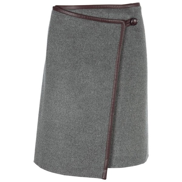 DKNY Grey/Brown Wrap Skirt