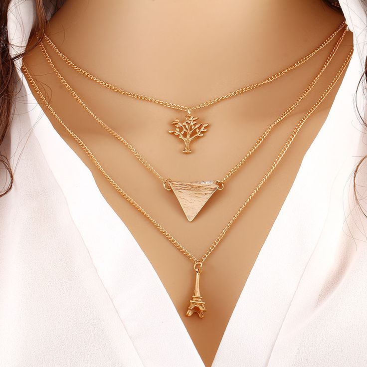 2015 Summer Hot Fashion Gold Plated Fatima Hand 3 Layer Chain Bar Necklace Beads and Long Strip Pendant Necklaces Jewelry JHS019
