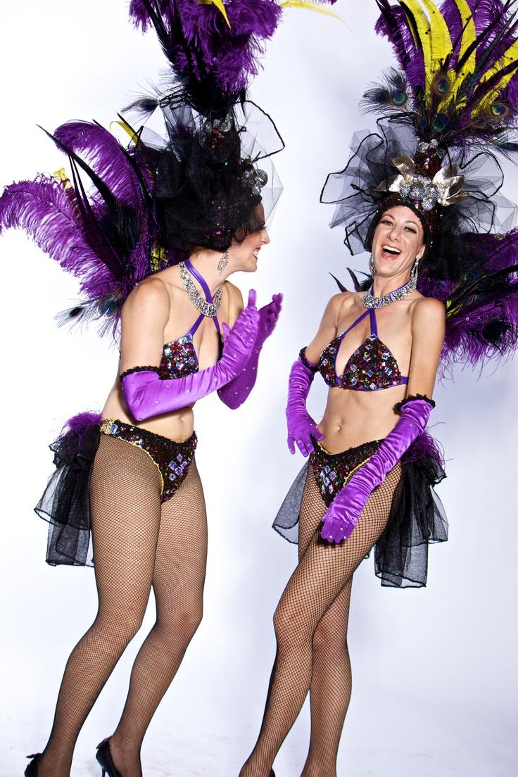 Las Vegas Showgirl Costume Purple And Multi Color Sequin