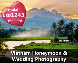 Special Package Vietnam Honeymoon or Vietnam Wedding Photography Package. The best choice for your special moments. For more information or reservation, please contact us (021) 231 6306 or visit www.ezytravel.co.id