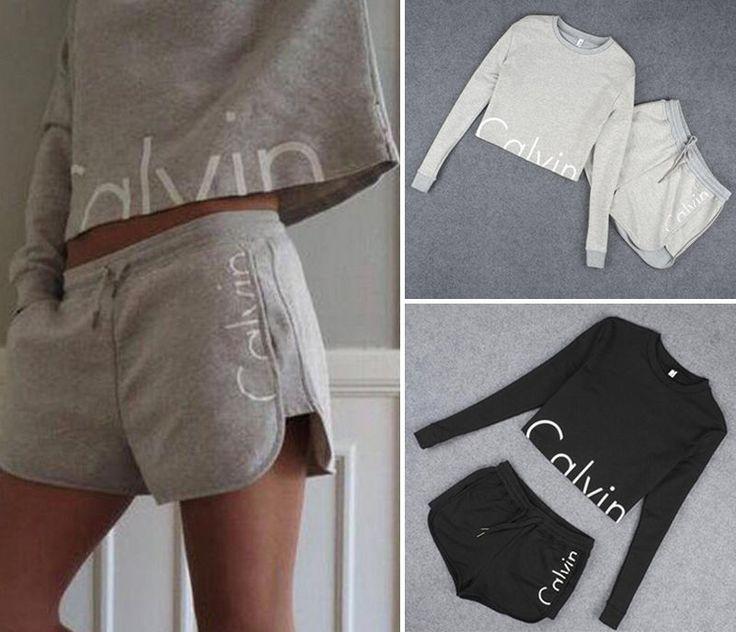 Hot Summer Women Tracksuit Sweatshirts&Short Pant 2Pcs Casual Jogging Sport SuitKimberly Paley