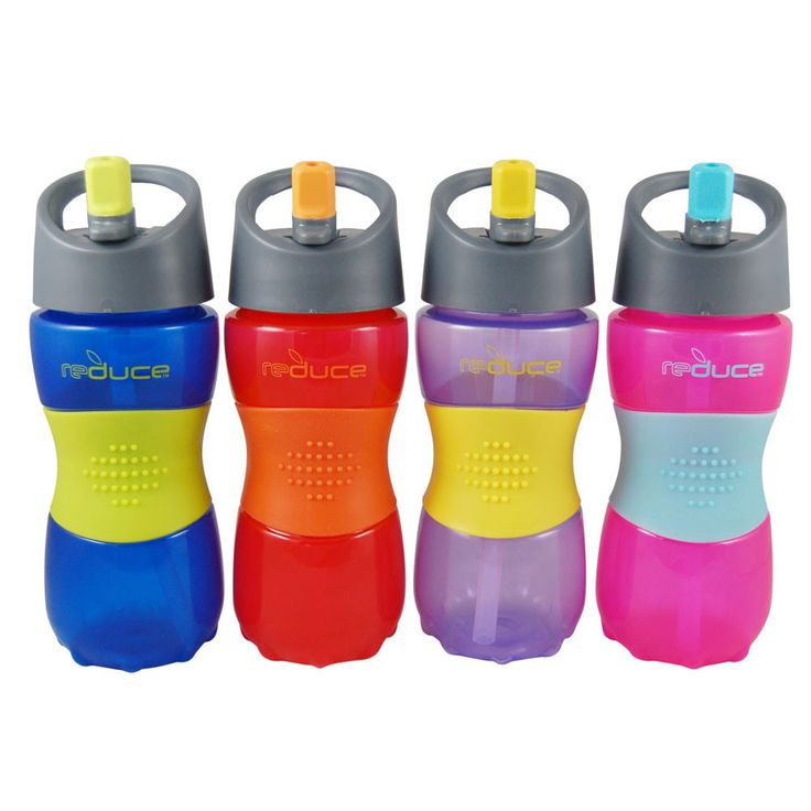 The Reduce Gripster Sport is a durable sport bottle with flip up straw spout.