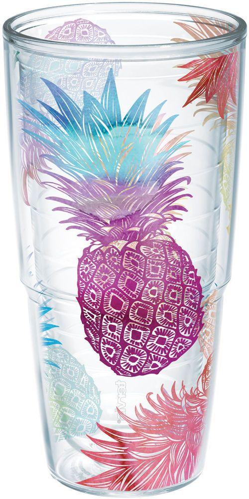 Tervis 24 oz. Watercolor Pineapple Tumbler 24 oz. Tumbler #Tervis