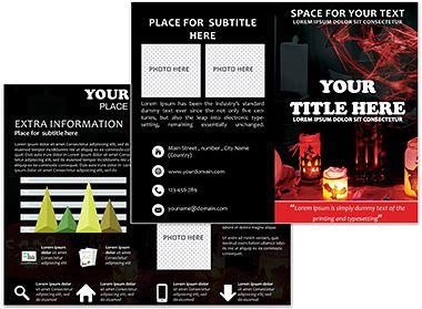 holiday brochure templates