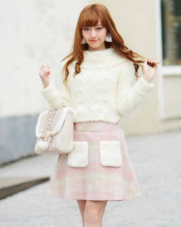 【雑誌掲載】【予約】先染めチェック台形スカート 渋谷109で人気のガーリーファッション リズリサ公式通販