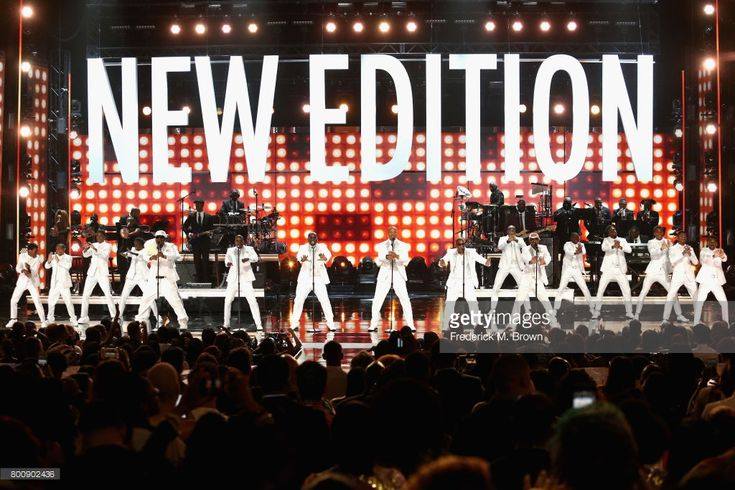 Young and adult cast members of 'The New Edition Story' and original members of New Edition perform onstage at 2017 BET Awards at Microsoft Theater on June 25, 2017 in Los Angeles, California.