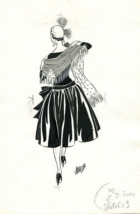 Margaret Oliver Brown fashion illustrator (DC/51/2/11).