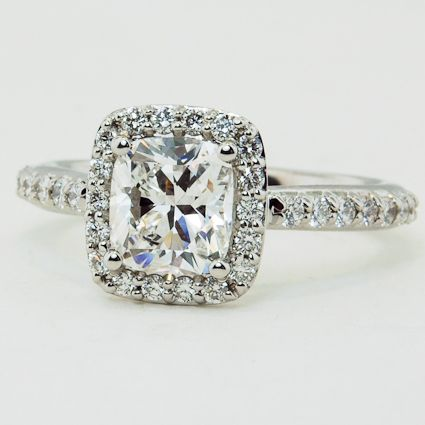 Cushion cut Halo Engagement Ring | Brilliant Earth ...