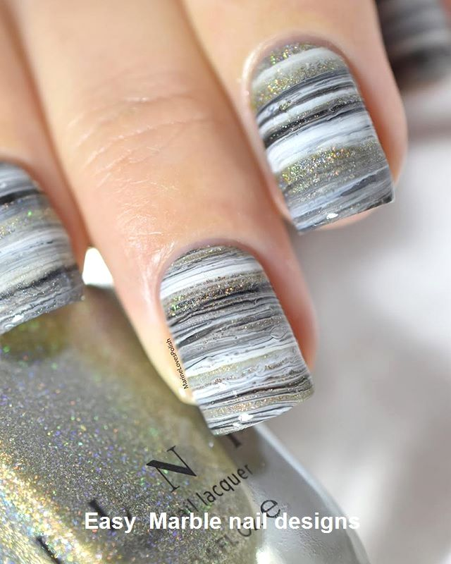 25 Marmornagel Design mit Wasser & Nagellack 2 – Marble Nails for You