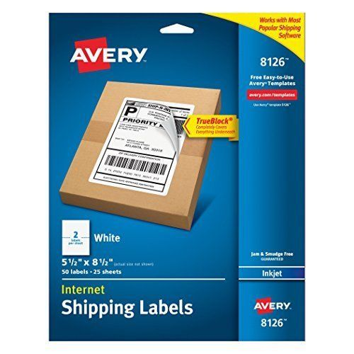 Avery Internet Shipping Labels With TrueBlock Technology For Inkjet Printers X #Avery