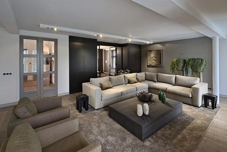 Meer dan 1000 idee n over eigentijdse woonkamers op pinterest huiskamer minimalistische - Eigentijdse woonkamers ...