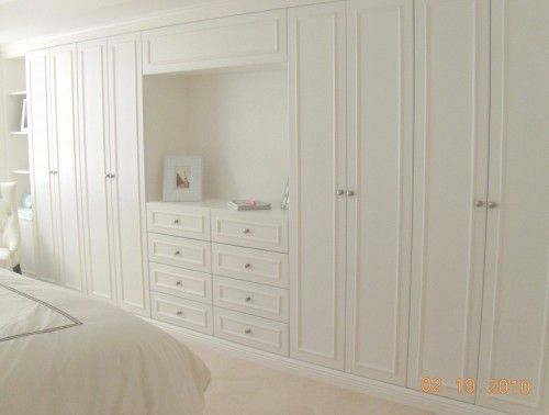 Interesting idea- built in closet & dresser in the bedroom. by visions