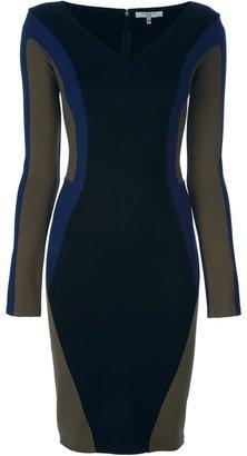 ShopStyle: Amen Colour block fitted dress