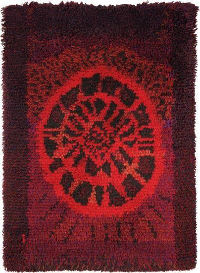 Ritva Puotila; Wool 'Karpolo' Rug by Kerittu Parkko for Suomen Käsityön Ystävät, 1962.