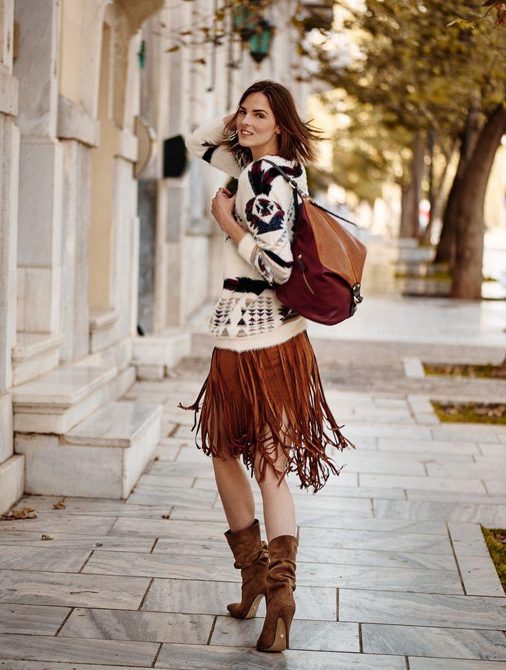 suede skirt by fullah sugah #streetstyle