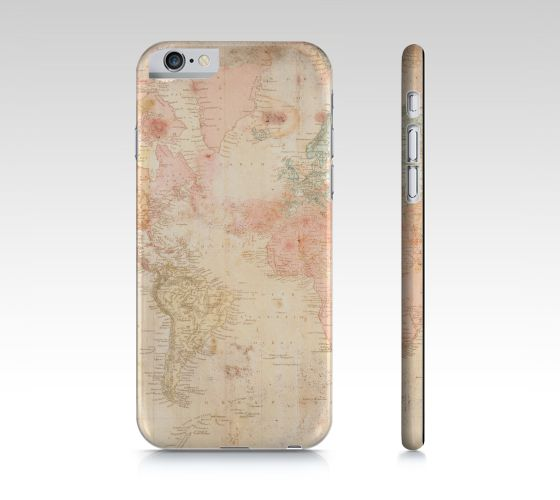 "#ArtOfWhere iPhone+6+/+6S+""Another+vintage+world+map""+by+Marosée+Créations"