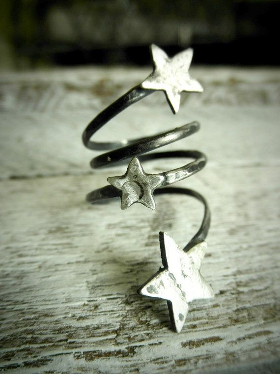 Your Own Shooting Stars  Three Distressed  Stars On by palefishny, $49.00