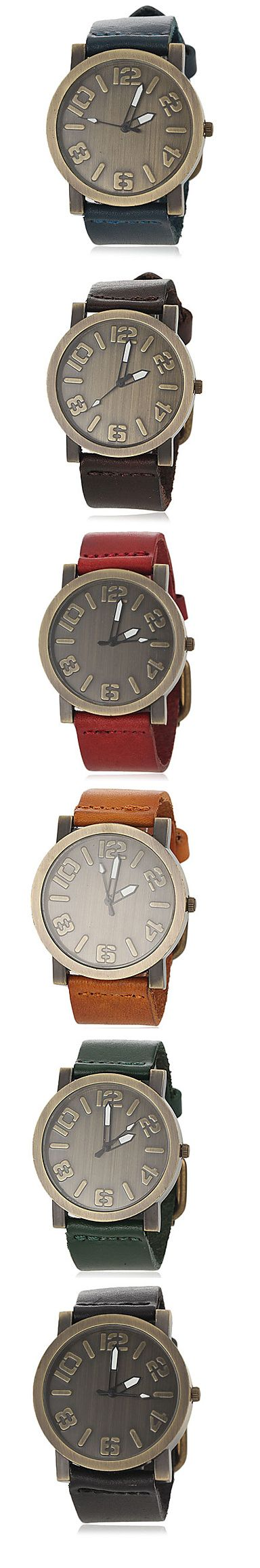 Look at these amazing retro quartz wrist watches! They come in several colors. Click on the picture to see more.