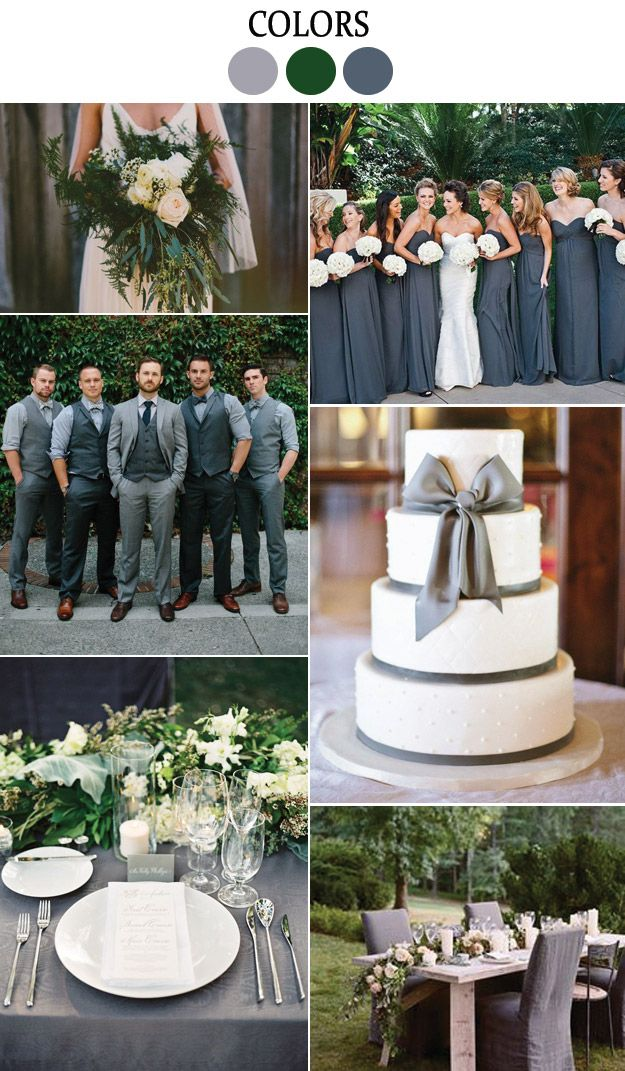 Grey And Green Wedding Inspiration From Lucky In Love Blog Weddingcolors Greywedding Greenwedding Weddings Events Parties Ect