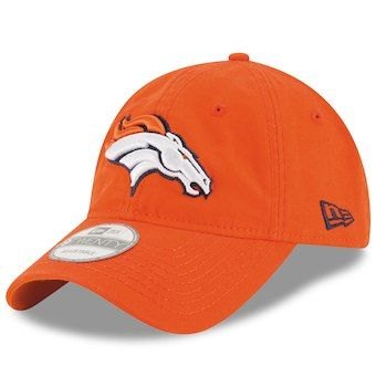 Men s New Era Orange Denver Broncos Core Shore 9TWENTY Adjustable ... 969748fb212