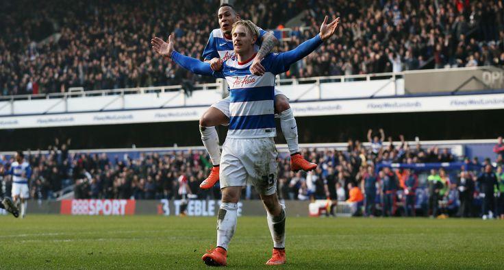 QPR Celebrating A Goal 9ine