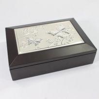 Butterfly Jewellery Box - Espresso/Silver