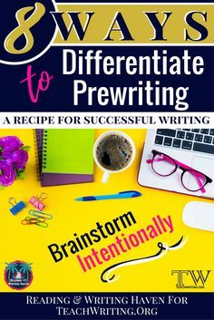 Teaching writing? Set students up for success by differentiating the prewriting process. Check out these eight strategies for making brainstorming meaningful in middle and high school.
