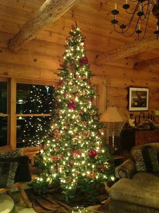 The Rustic Cabin Is Decked Out For Christmas Cabin