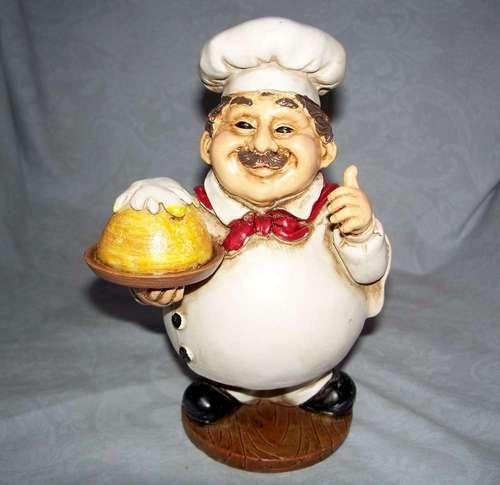 7 Quot Tall Fat Chef S Statue French Bistro Kitchen Decor Chef