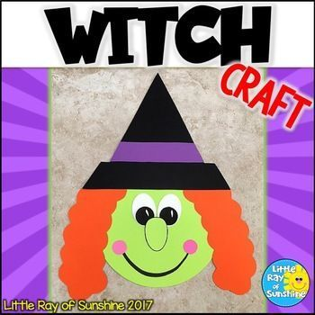 This not-so-spooky Witch Craft is perfect for your Halloween themes, as an addition to your favorite fall or Halloween stories or simply as a decoration. All templates needed to make this craft are included. Simply copy onto colored paper or use the templ