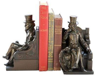 Bookends Bookend Uncle Sam Cast Resin New Hand-Cast Hand-Painted Painted OK-1672