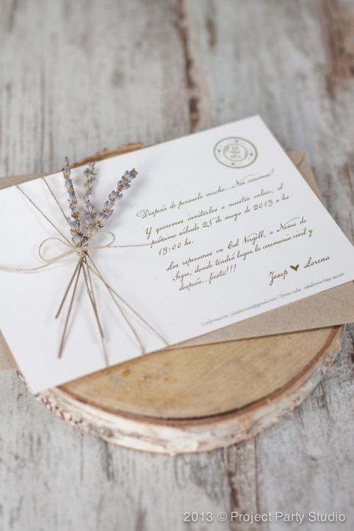 Invitaciones boda  | Project Party Studio