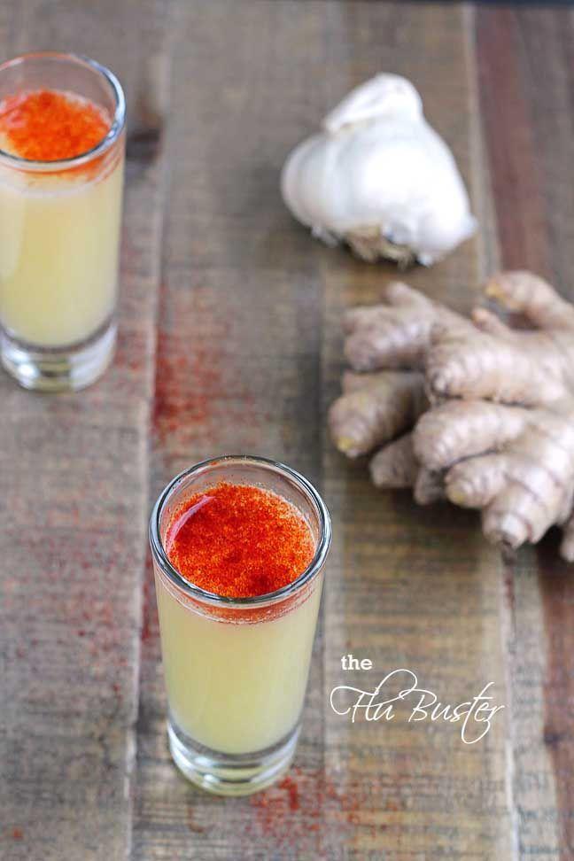 Anti erkältungs drink - Zitronensaft, Knoblauch, Ingwer und Cayennepfeffer