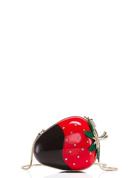 creme de la creme dipped strawberry clutch - kate spade new york