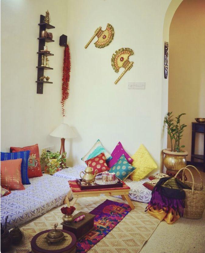 Floor Seating Ideas Interior Ethnic Home Decor Diy Living Room