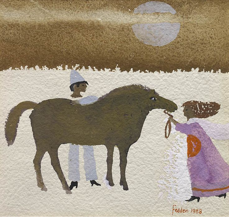 Mary Fedden | Girl, Horse and Clown