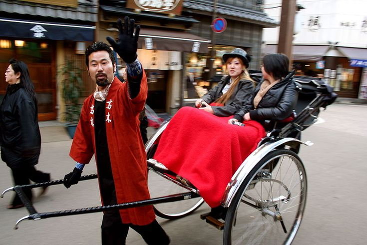 Slightly cheesy and very pricey, a ride in a jinrikisha (hand-pulled rickshaw) around Asakusa is Tokyo's equivalent of a spin around New York's Central Park in a horse-drawn carriage.